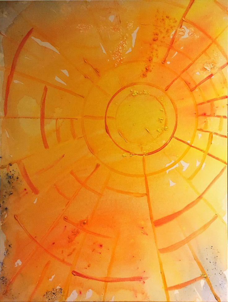 "Sky Lights ""Taivaanvalossa"" 2018/01 liquid acrylic paint"