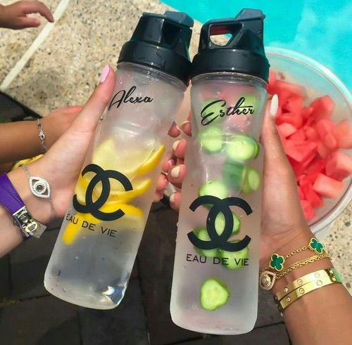 Reusable chanel water bottle