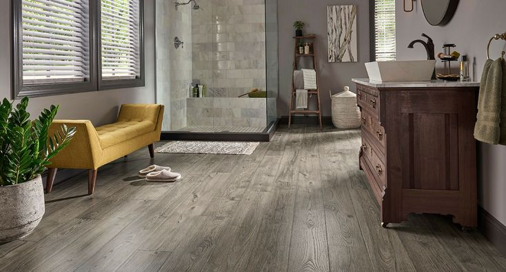 Anchor Grey Oak Laminate Floor Natural Wood Look Thick Strip Plank Flooring