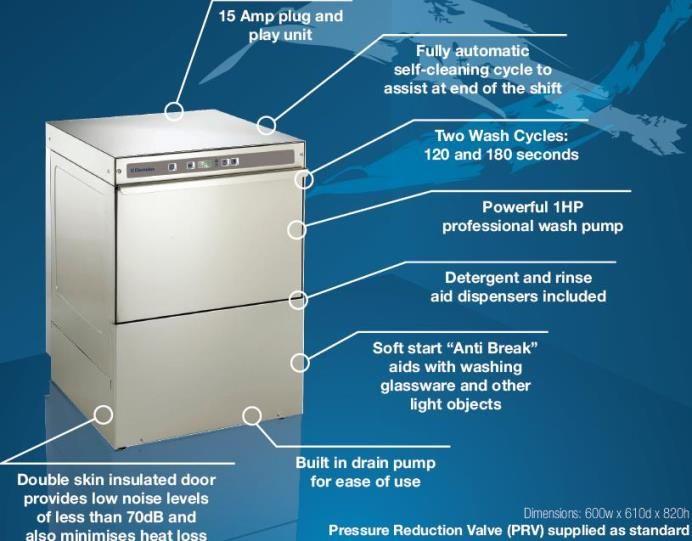 electrolux glasswasher. commercial electrolux nuc1gms uenderbench dishwasher | - kitchen \u0026 catering equipment glasswasher w