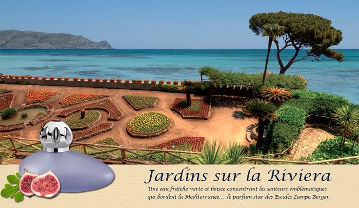 Parfum de Maison, Jardins sur la Riviera. Parfum Star des Escales en Méditerranée, Jardins sur la Riviera concentre les senteurs emblématiques qui bordent la Méditerranée.