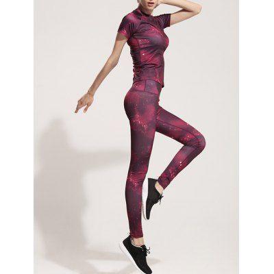 Galaxy Print Stretchy Gym Leggings Detox Program Summer Nutrition Activities Human Body