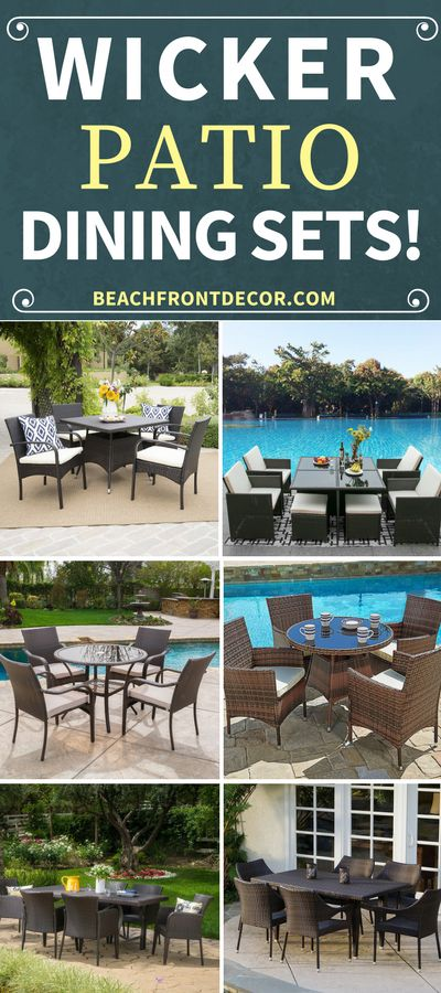 Wicker Patio Dining Sets! Discover the best rattan wicker dining sets for your outdoor patio. We love outdoor wicker dining sets for a porch, balcony, or porch.