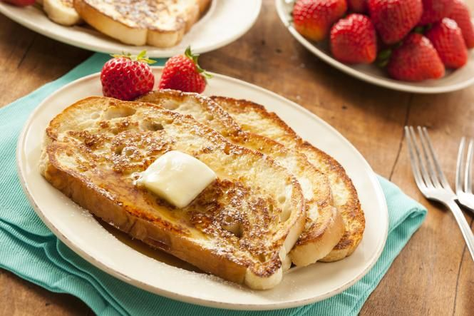 Homemade French Toast - Basic Easy Peasy Recipe.  Site has video too. Beat egg, vanilla and cinnamon in shallow dish. Stir in milk. Dip bread in egg mixture, turning to coat both sides evenly. Cook bread slices on lightly greased nonstick griddle or skillet on medium heat until browned on both sides.
