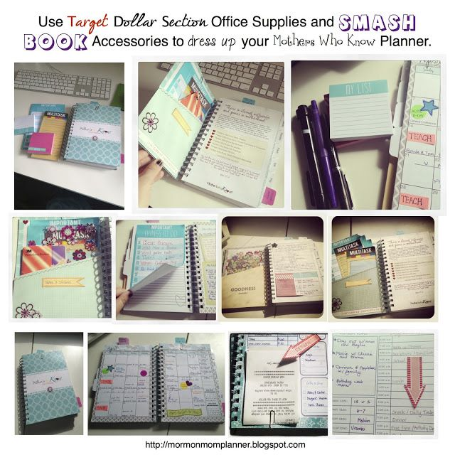 Tips for using Target and Smashbook products to accessorize your planner.