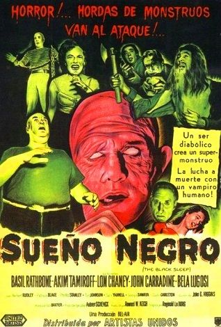 The Black Sleep (1956) - Reginald Le Borg / Basil Rathbone, Akim Tamiroff, Lon Chaney Jr., John Carradine, Bela Lugosi.: