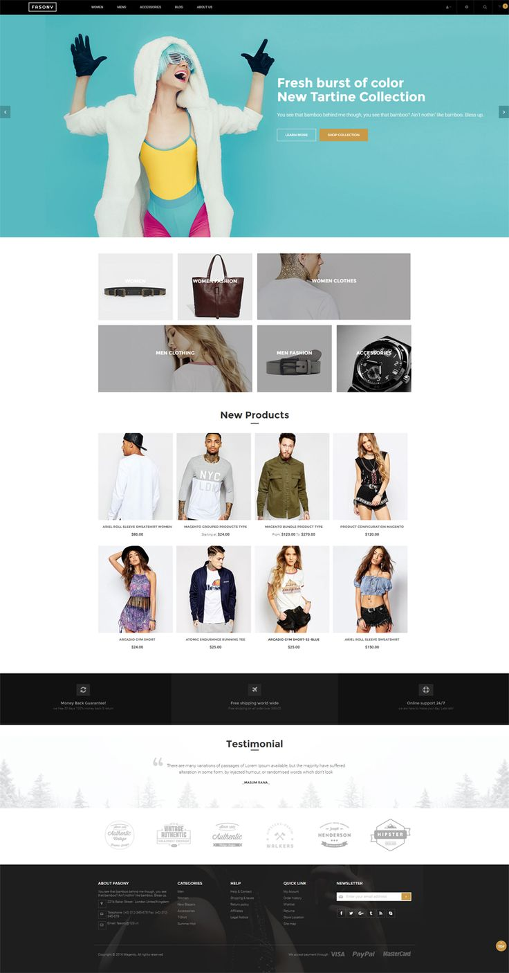 This magento 2 free theme will scale to fit allmost all of devices: large screen desktop, laptop, mobile, tablet