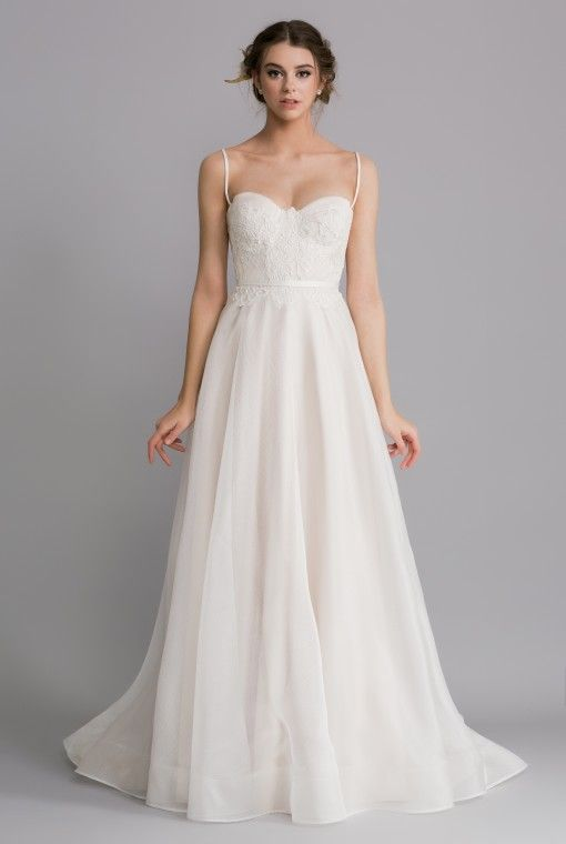 OCA619T JOSEPHINE Enjoying a structured and corseted bodice with defined cups, this dress is for the modern romantic.
