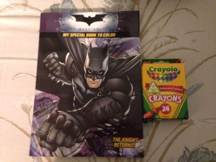 BATMAN COLORING BOOK 24 Crayola CRAYONS