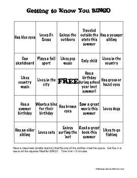 ice breaker bingo template - icebreaker bingo template for school pictures to pin on