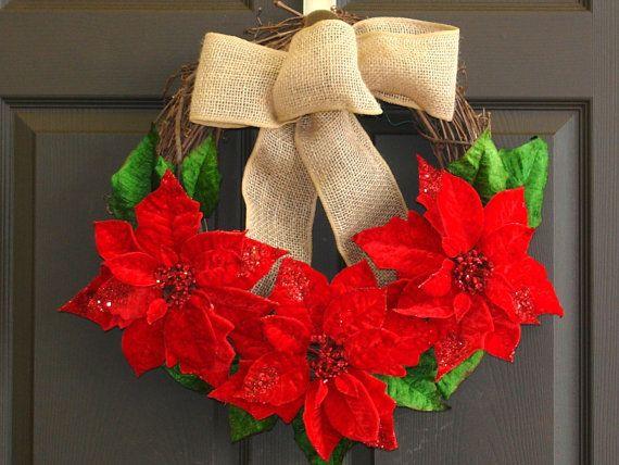 christmas wreath Seasons Greetings wreaths Holiday by aniamelisa, $49.00