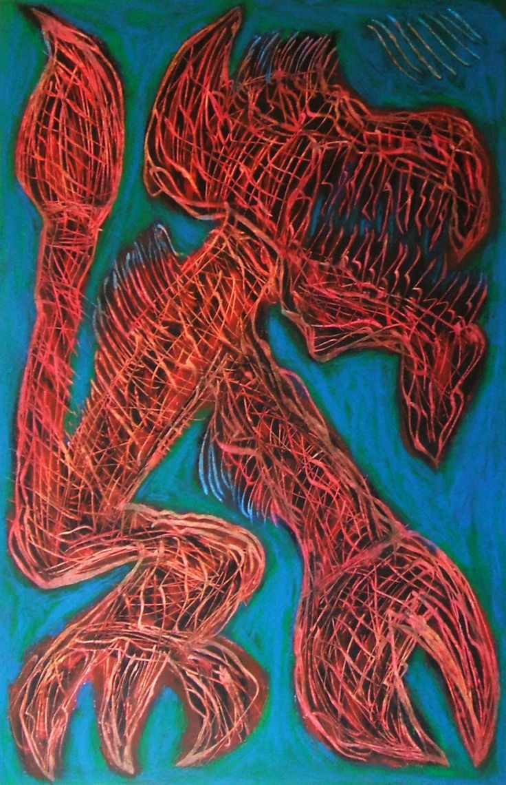 """""""Cane infernale"""" 2014 Tecnica mista su cartoncino 58x38 ©Pietro Gargano"""