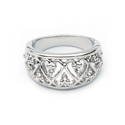 Filigree Heart Ring with Swarovski® Crystals