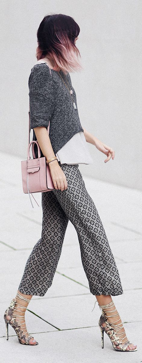 Bekleidet Cropped Wide Pants Shopping Chic Fall Outfit Idea