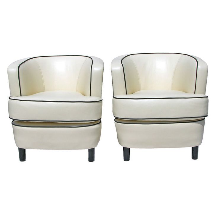 Pair of Art Deco Armchairs Sweden Circa 1930's Curved backs with loose reversable seat cushions