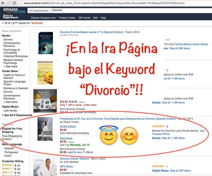"""ESTAMOS EN LA PRIMERA PÁGINA!! ⟶ Al colocar la palabra """"divorcio"""" en la barra de búsqueda de #Amazon, #FortaleceteEnElAunEnElDivorcio aparece en la posición #7!!     ⭐︎⭐︎ ❝GRACIAS!!❞⭐︎⭐︎  QUEDA MENOS TIEMPO QUE AYER... ⟶ El VIERNES, 10 de JULIO 11:59 PM [Hora del Pacífico] es la última oportunidad para acceder al #eBook #GRATIS!  Accédelo AHORA: http://www.amazon.com/Fortalécete-Él-Aun-Divorcio-Sobreponerte-ebook/dp/B00B5JKQ4A/ie=UTF8?m=ATALKE9BAK8L&keywords=divorcio+superar"""