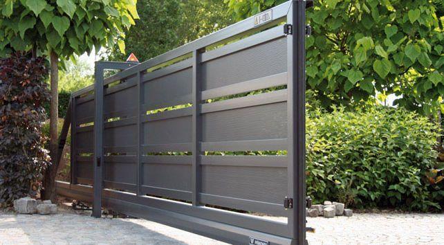 Like the paneling for fences ???  Sliding gate / metal / bar / panel - MODERN SYSTEM - WISNIOWSKI