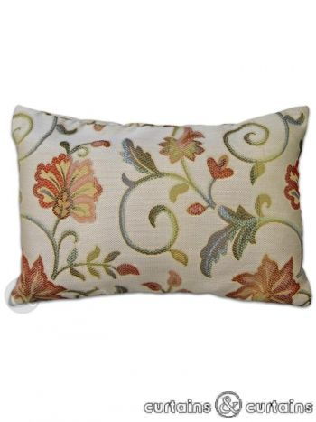 Embroidered floral design #cushion