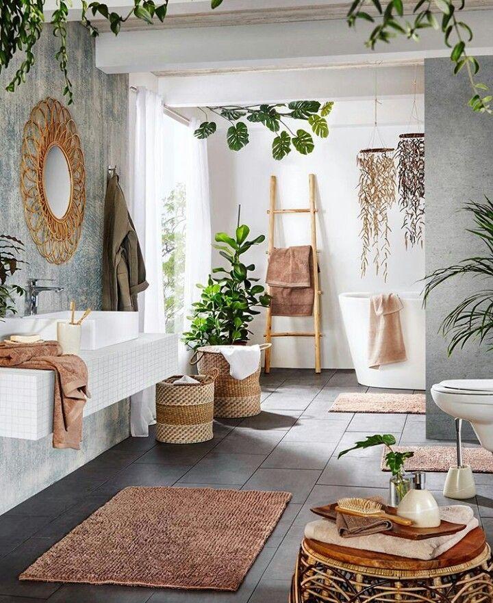 Natur Badevaerelse Tropisches Badezimmer Wohnen Zuhause