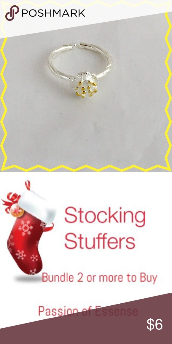 🎄Stocking Stuffers Girls Yellow Rose Ring 🎄Stocking Stuffers Yellow Rose CZ Rhinestones Crystal made with silver plated size 6 item #9. Bundle 2 or more to buy and save on your shipping.  🔴No offers made on your bundle this is the lowest price.🔴 Accessories Jewelry