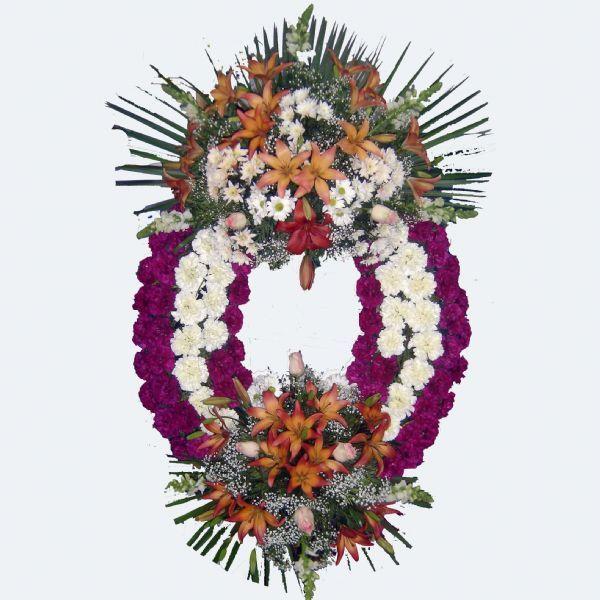 Corona de flores para Funeral de dos cabeceras