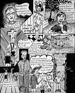 Auto biographical comic strips (high school art lesson)