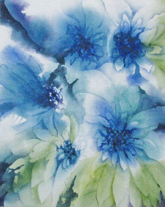 Fiore acquarello floreale stampa Kids parete Art di NancyKnightArt