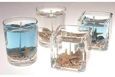 Decorating Nautical Beach Decor | beach candle favors beach in a bottle shells seashell ocean