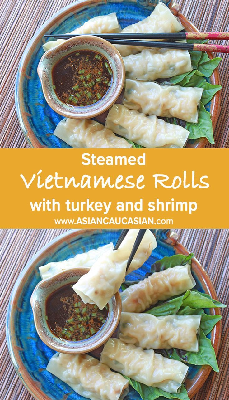 Why fry, when you can steam? These yummy Vietnamese Rolls are filled with goodness, steamed to perfection in a bamboo steamer!  #asianeats #asiancaucasian #asianfood #recipe #asianrecipe #yummly #tastespotting #foodgawker #feedfeed #fwx #foodblogfeed #healthy