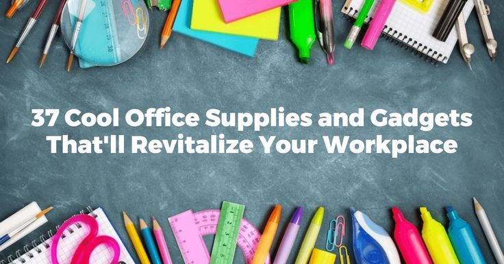37 Cool Office Supplies and Gadgets That'll Revitalize Your WorkplaceUnique and cooloffice supplies address many common workplace doldrums.From grey walls to blandly colored carpets, a pop of color or a splash of humor can help liven up an otherwise dull office.After all, a bad