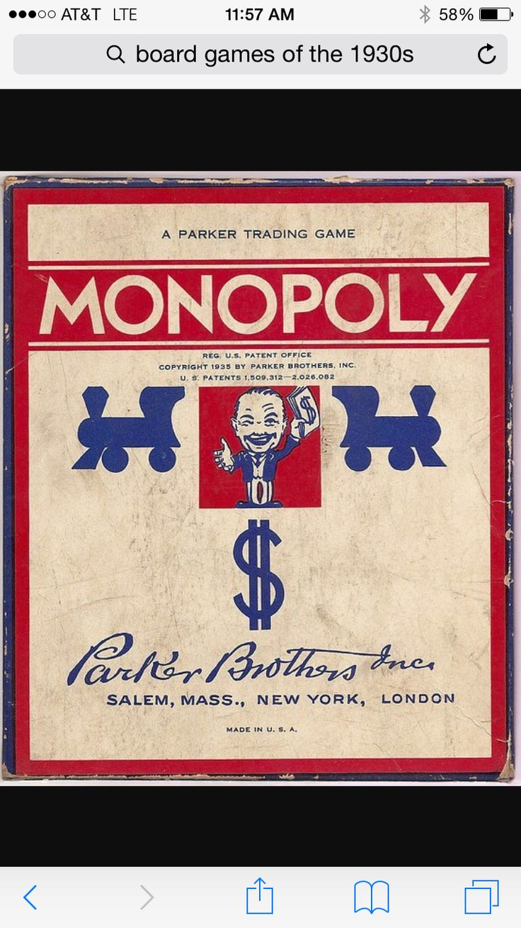 Vintage 1936 monopoly no 9 parker brothers board game 50 duvall designs pinterest vintage and monopoly