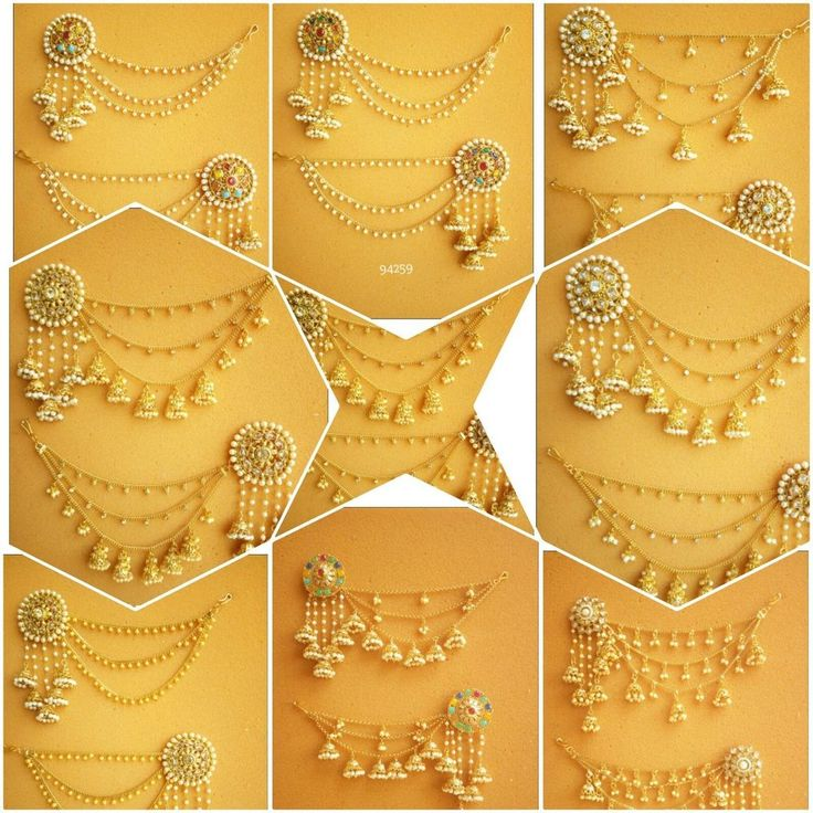 Indian Bollywood Jewelry Gold Plated Wedding Wear Traditional Polki Earring Set #vgjewel