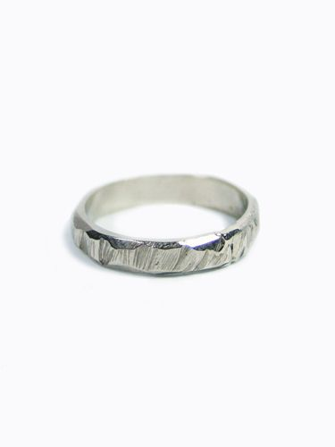 Ragged Wedding Band White Gold The Mens Room