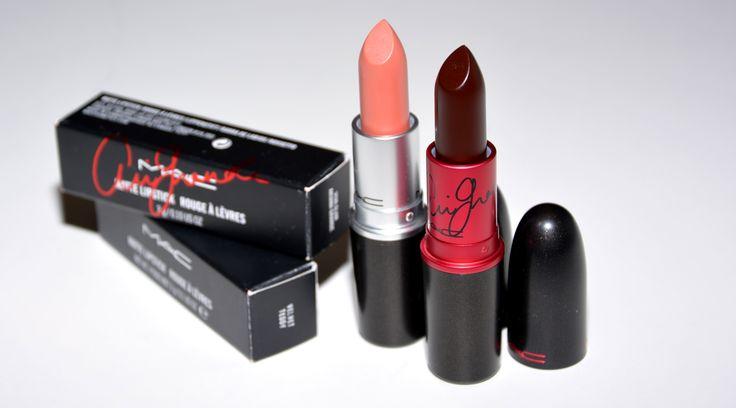 Dos labiales muy diferentes! Uno oscuro, tono ciruela y otro nude maquillaje: el Velvet Tedoy y el Viva Glam de Ariana Grande de M.A.C. MacCosmetics