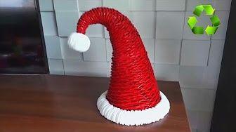 Manualidades de Navidad: Árbol de papel. Paper tree. - YouTube