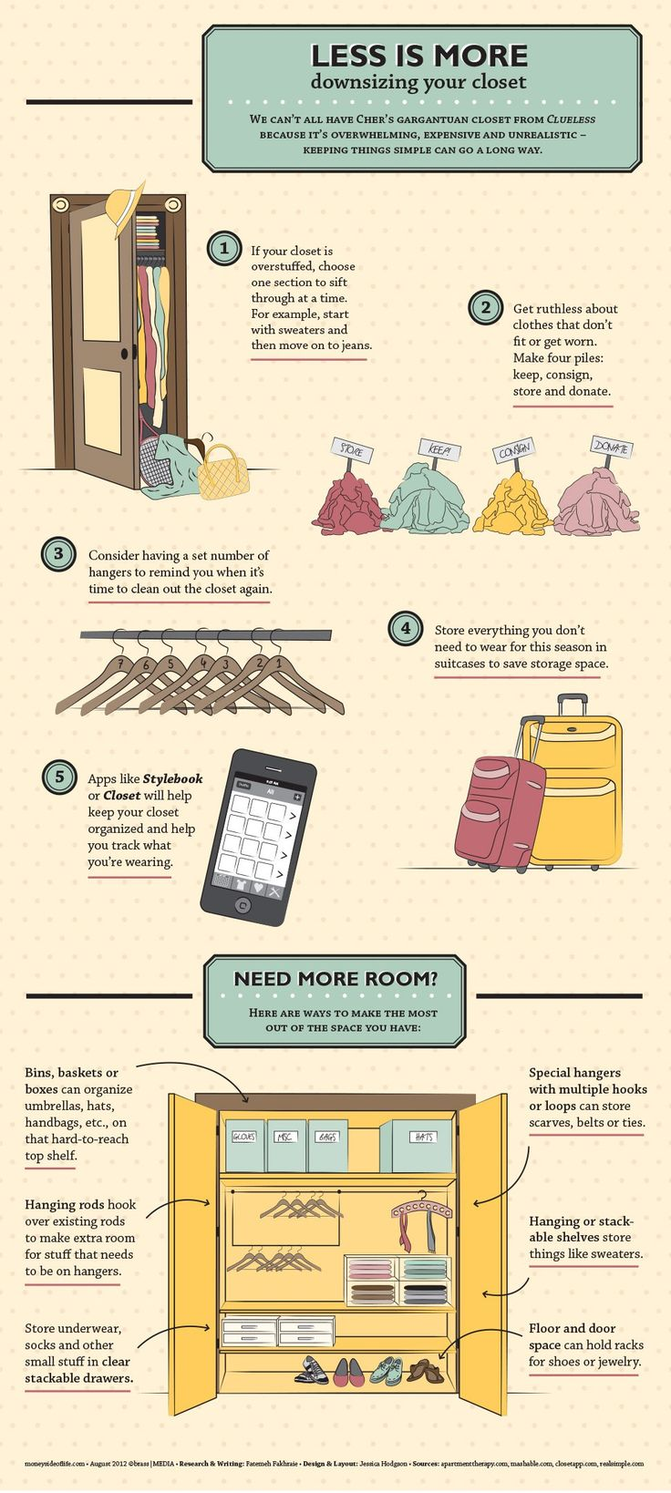 Less Is More: Downsizing Your Closet [INFOGRAPHIC #infographic #interesting #infographics #charts #Social #Media #Interesting #Infographic #Graphics #information #informative #educate