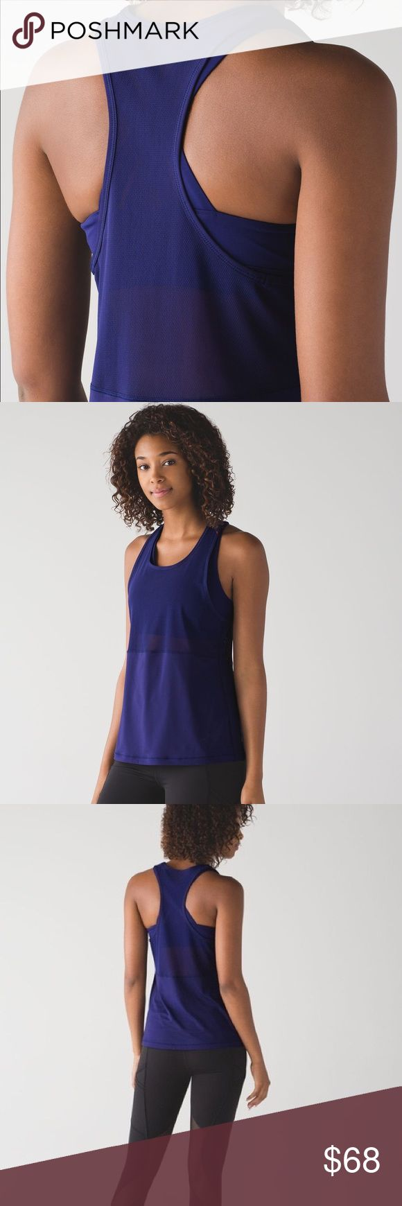 Lululemon Fast As Light 2-In-1 Tank Size: 4 NEW All ventilation all the time—this lightweight tank with built-in bra was designed for your sweatiest workouts. Light Luxtreme® Sweat-wicking Light Luxtreme® fabric body is four-way stretch and feels cool      sweat-wicking     four-way stretch     fits like a second skin     cool     smooth handfeel     lightweight  Mesh Mesh fabric panels help keep you cool      breathable     lightweight     sweat-wicking  BRAND NEW - TAGS STILL ATTACHED…
