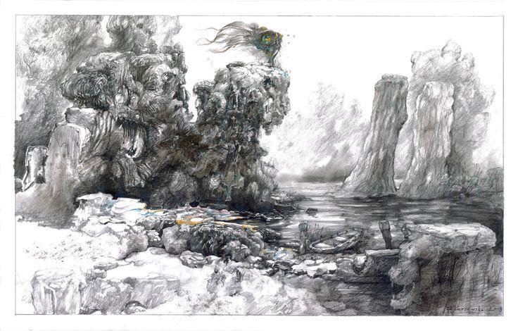 filip kurzewski; pencil on paper; 70x59cm / 27,5x19,5inch