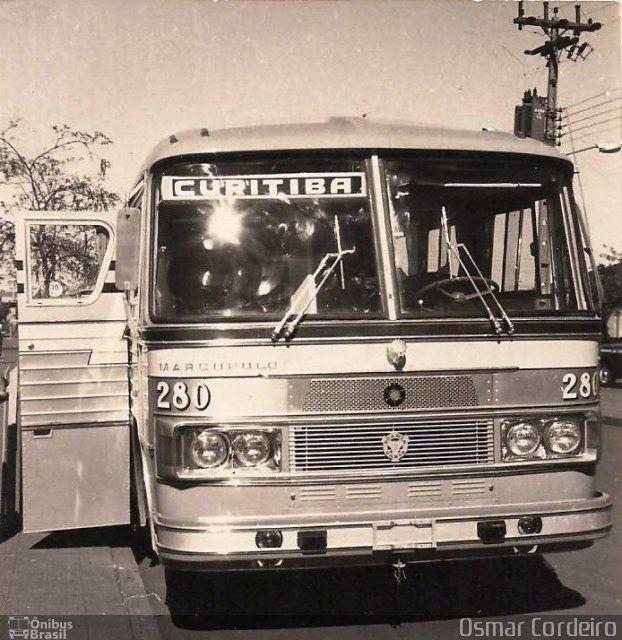 Ônibus da empresa Expresso Nordeste, carro 280, carroceria Marcopolo I, chassi Scania B110. Foto na cidade de Campo Mourão-PR por Osmar Cordeiro, publicada em 07/10/2016 12:08:58.