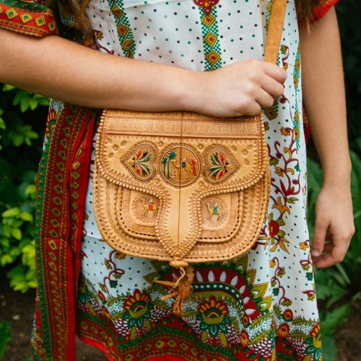 Moroccan Leather Handbag from Trouvaille Boutique