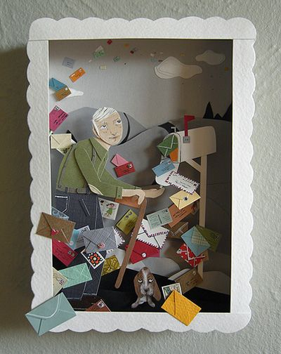 Three dimensional paper art by Jayme McGowan