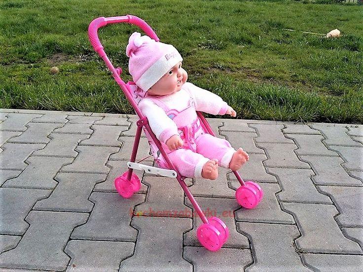 Wózek spacerowy dla lalek ZOŚKA z interaktywnym bobasem | sklep kochamzabawki.eu