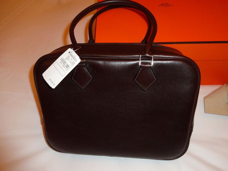 Hermes Plume Handbag in Expresso Brown Leather New with Tag | eBay ...