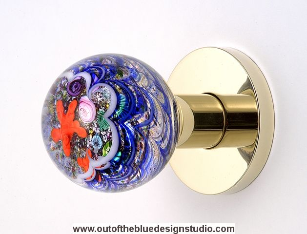 Art Glass Door Knob 121106 From Out Of The Blue Design Studio