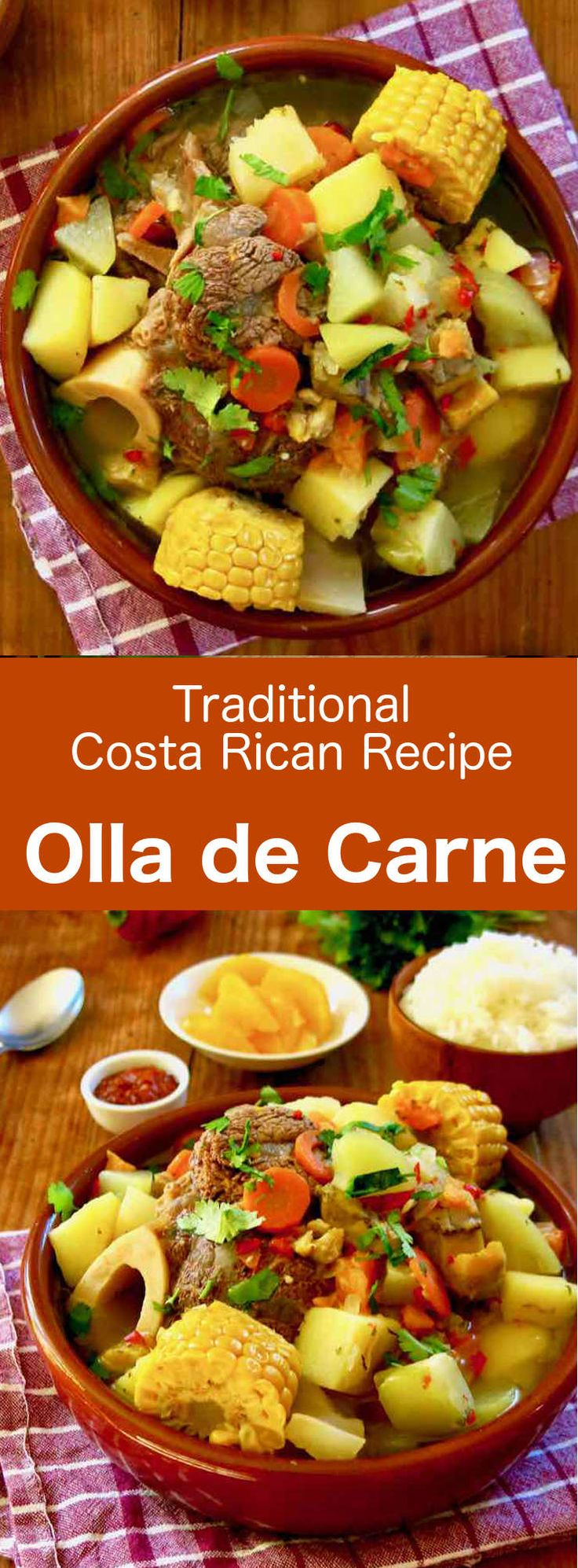 Olla de carne (meat pot) is one of the jewels of Costa Rican cuisine. It is prep… Olla de carne (meat pot) is one of the jewels of Costa Rican cuisine. It is prepared with beef, potatoes and other vegetables that are slow-cooked. Costa Rican Desserts, Costa Rican Food, Marmite, Vegetable Recipes, Meat Recipes, Carne En Trocitos, Beef And Potatoes, Tomato Pie, Gallo Pinto