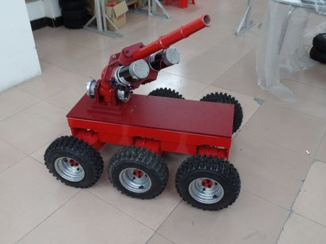 The TITAN is a large 6WD robot chassis designed for projects such as a snow plow or fire fighting robot.