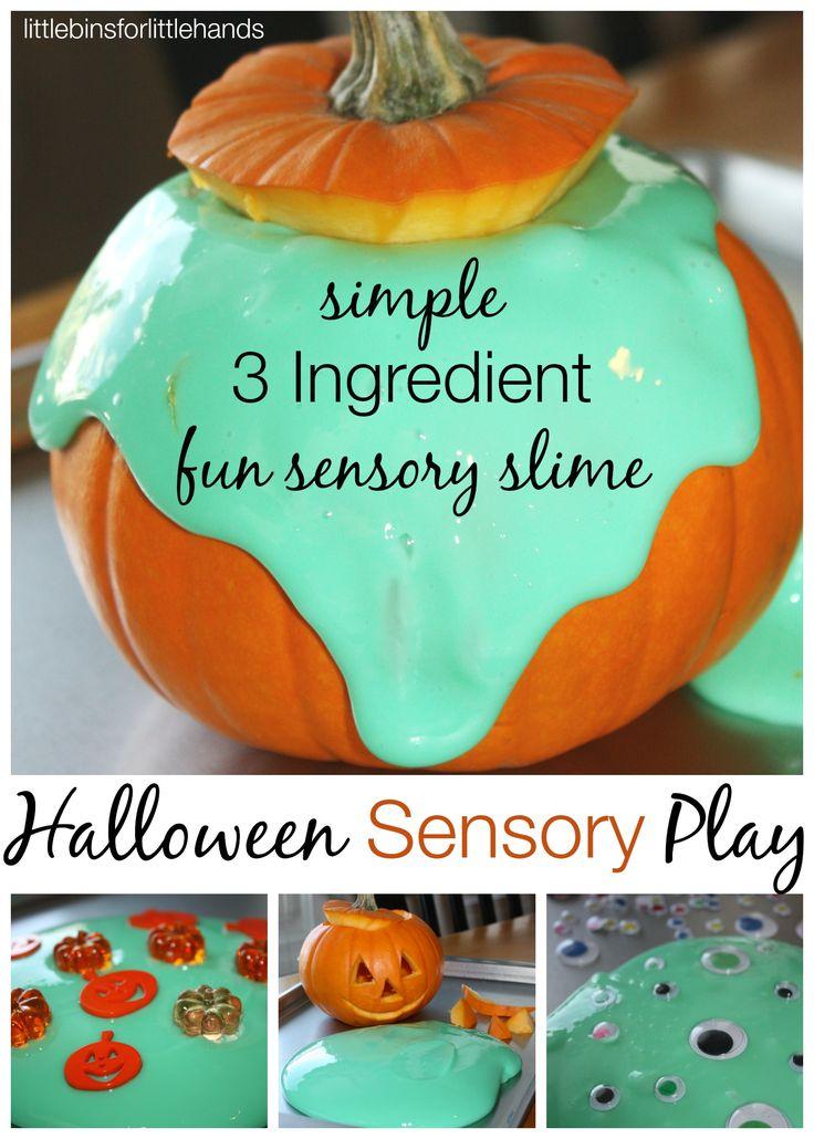 easy slime halloween sensory play ideas 3 ingredients