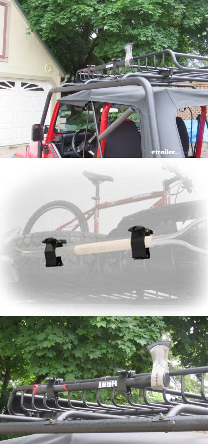 Be prepared for your Wrangler adventure ride - mount an axe or shovel to your roof basket with these mounting brackets.