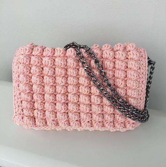 Bag Crochet handbag Made in Greece Luxury bagWalnuts