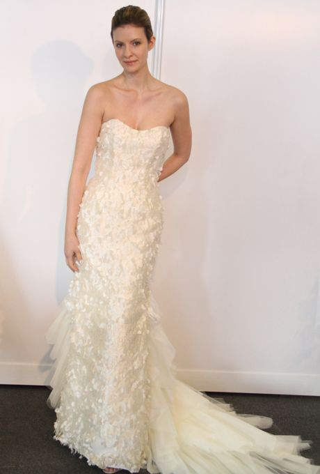 Brides.com: Jane Wang - Spring 2013. Gown by Jane Wang  See more Jane Wang wedding dresses in our gallery.